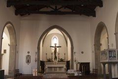 圣诞老人植物群和Lucilla教会在圣菲奥拉格罗塞托意大利 免版税库存图片
