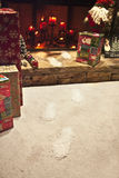 圣诞老人步骤 免版税图库摄影