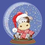 圣诞老人母牛 库存图片