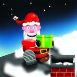 圣诞老人烟囱 免版税库存照片