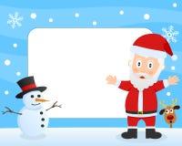 圣诞老人照片框架 库存图片