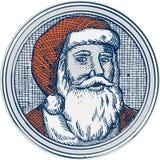 圣诞老人父亲圣诞节葡萄酒蚀刻 库存照片