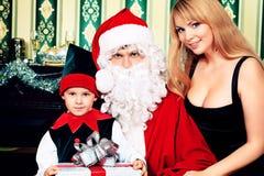 圣诞老人父亲 免版税库存照片