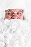 圣诞老人特写镜头画象 库存图片