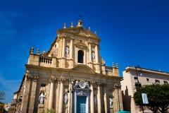 圣诞老人特里萨alla Kalsa教会在巴勒莫,意大利 免版税库存图片