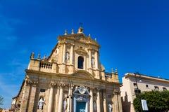 圣诞老人特里萨alla Kalsa教会在巴勒莫,意大利 库存照片