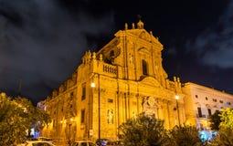 圣诞老人特里萨alla Kalsa,一个巴洛克式的教会在巴勒莫,意大利 库存照片