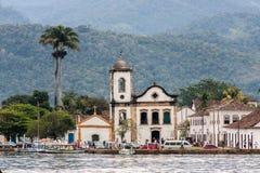 圣诞老人瑞塔教会Paraty里约热内卢 库存照片
