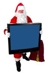 圣诞老人电视 免版税库存图片