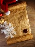 圣诞老人的信件 免版税库存照片