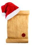 圣诞老人的信件 图库摄影