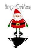 圣诞老人的反映 库存图片
