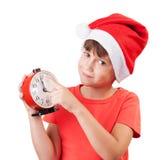 圣诞老人的图象的女孩 免版税库存图片