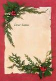 给圣诞老人的圣诞前夕信件 免版税库存图片