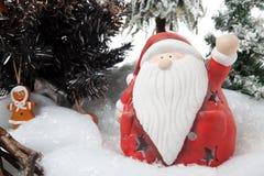 从圣诞老人的圣诞节问候 免版税库存照片