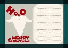 从圣诞老人的圣诞节问候 库存照片