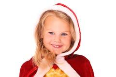 圣诞老人的女孩 库存图片