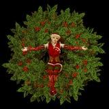 圣诞老人的小的辅助工 免版税库存照片