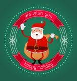 从圣诞老人的愉快的假日 免版税库存图片