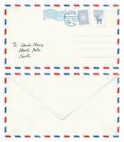 给圣诞老人的明信片信件 库存照片