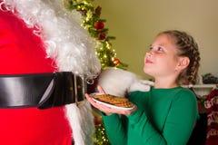 圣诞老人的曲奇饼 库存照片