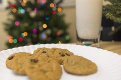 圣诞老人的曲奇饼 库存图片