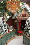 圣诞老人的村庄 免版税图库摄影