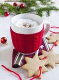 圣诞老人的牛奶 库存照片