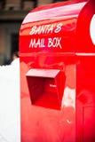 圣诞老人的邮箱 免版税库存照片