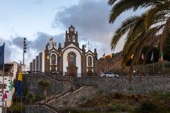 圣诞老人的露西娅,大加那利岛教会,节日的天受护神的,圣诞老人露西娅, 2017年12月13日 图库摄影