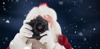 圣诞老人的综合图象拍照片 库存图片