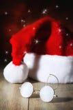 圣诞老人的玻璃 免版税库存照片