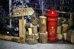 圣诞老人的洞穴 库存照片
