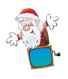 圣诞老人盒子跳出小人的玩具盒 图库摄影