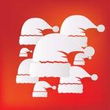 圣诞老人盖帽象 免版税库存图片