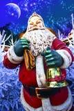 圣诞老人看板卡 免版税库存照片