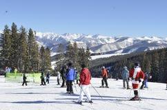 圣诞老人瞄准;圣诞节奇迹,比弗河, Vail手段, Avon,科罗拉多 库存图片