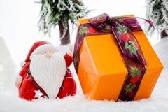 圣诞老人礼物陈列室 库存照片