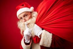 圣诞老人秘密  免版税图库摄影