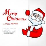 圣诞老人空白标志 免版税图库摄影