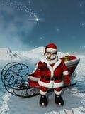 圣诞老人等待 免版税库存图片