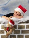 圣诞老人等待 库存照片