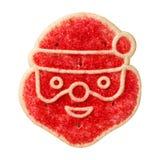 圣诞老人糖屑曲奇饼 库存照片