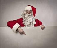 圣诞老人索引 库存图片