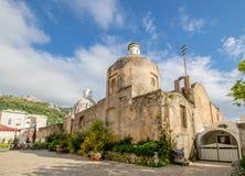 圣诞老人索非亚教会在卡普里岛,意大利海岛上的  图库摄影