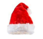 圣诞老人红色帽子 免版税库存图片