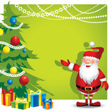 圣诞老人背景-例证 库存照片
