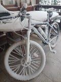 圣诞老人自行车 免版税库存图片