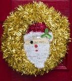 圣诞老人花圈 库存照片