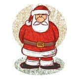 圣诞老人草图向量 库存照片